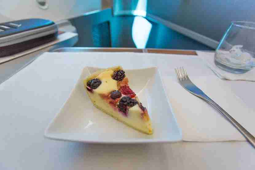 """Not a raspberry tart: my """"tart"""" was more like a cheesecake. Decent, but not amazing."""