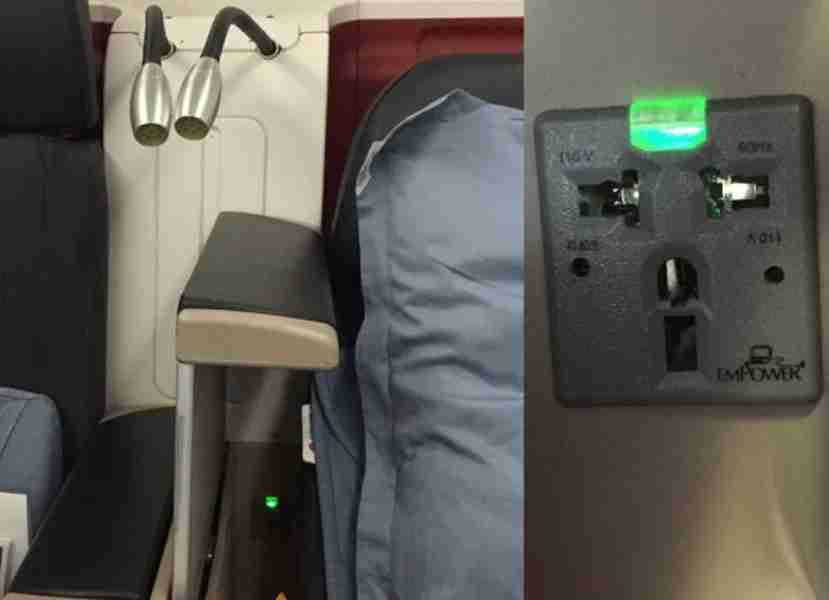 Turkish Airlines latest business class seat features both power outlets and privacy screens.