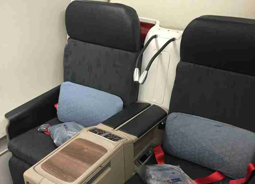 The business class product on Turkish Airlines