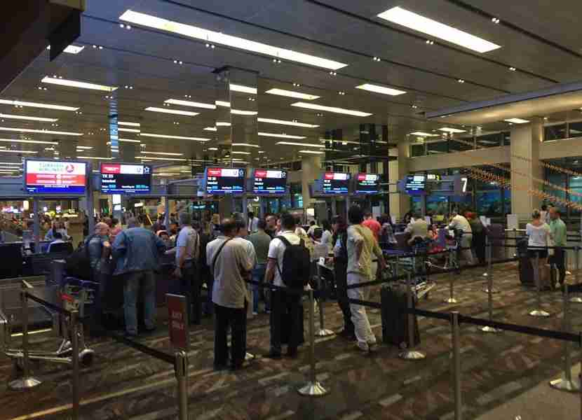 The Turkish Airlines check-in row at SIN