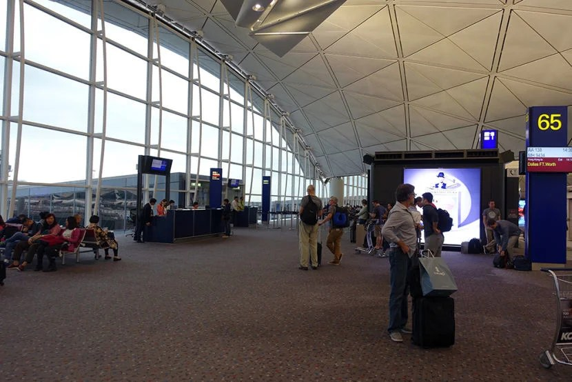 The gate area at HKG