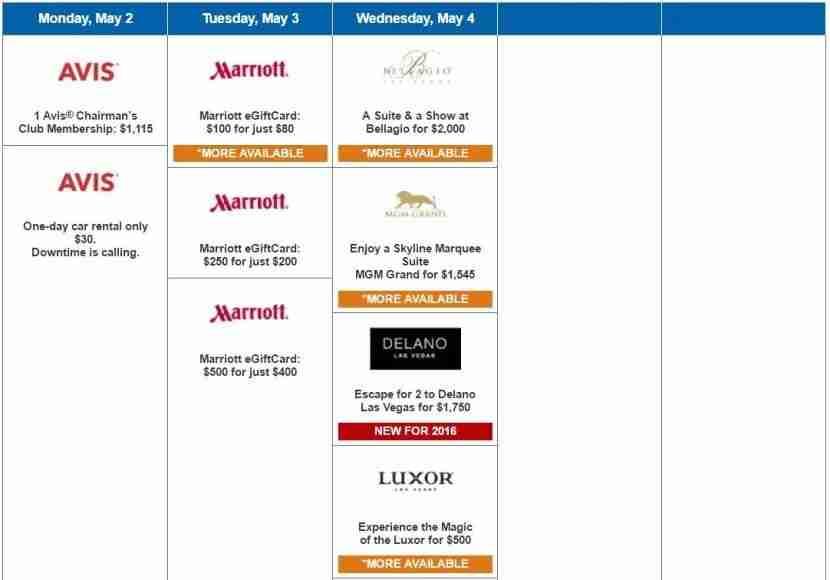 Daily Getaways Week 5 offers.