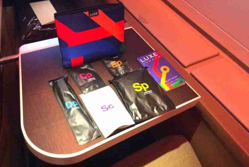 The Luxe amenity product with Scaramouche and Fandango products.
