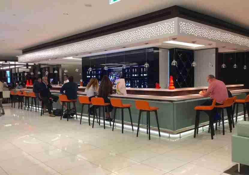 The main bar area.