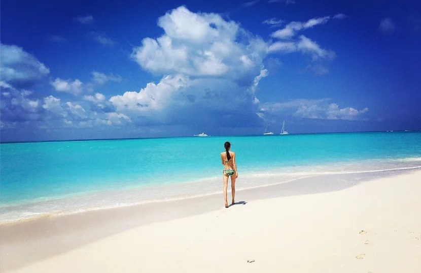 Enjoy the beautiful beaches of Fort George Cay.