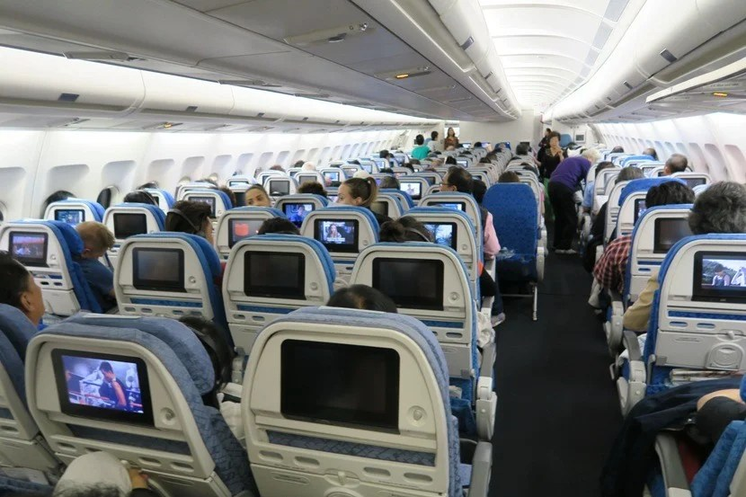 Most of theeconomy cabin is arranged 2-4-2 — except for the last few rows of economy, which are arranged 2-3-2.