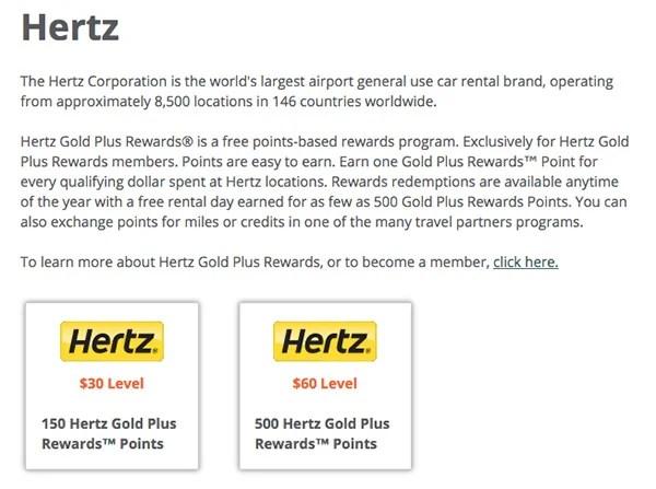 hertz gold plus rewards points transfer