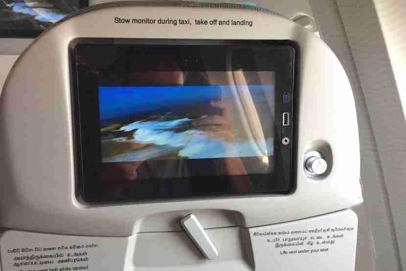 The seatback IFE screens.