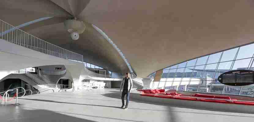 TPG inside the TWA Flight Center at JFK.