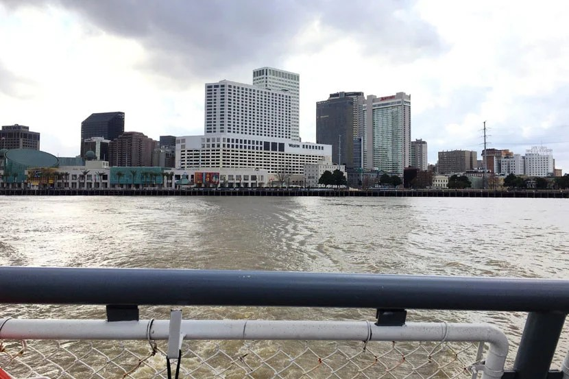 View from the Algiers Point/Canal Street ferry.