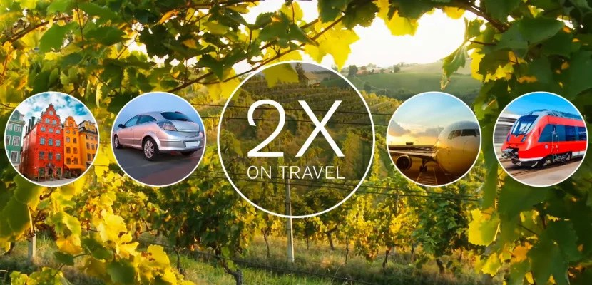 You can earn 2x on travel expenses with Chase Sapphire Preferred.