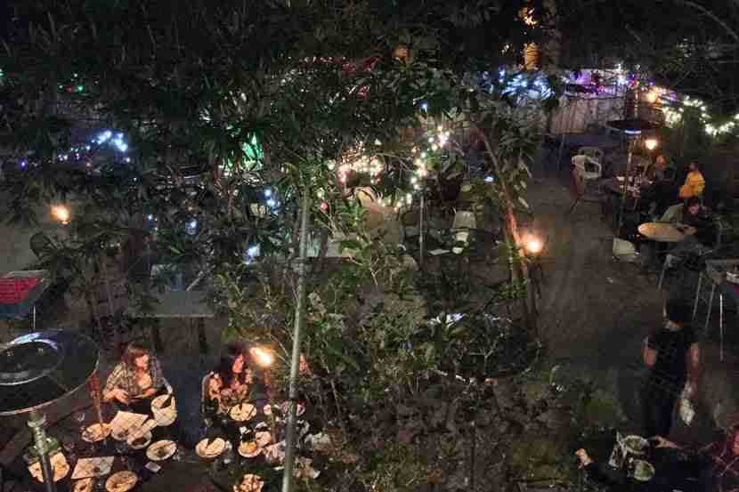 Courtyard at Bacchanal. Image courtesy of Derek Wright.