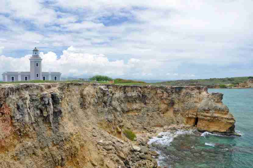 <em>Los Morillos lighthouse and the cliffs of Cabo Rojo. Image courtesy of Shutterstock.</em>