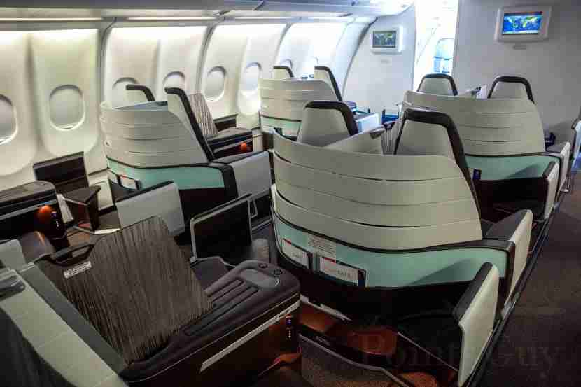 Each pair of seats is self-contained, so you can recline without impacting the person behind you.