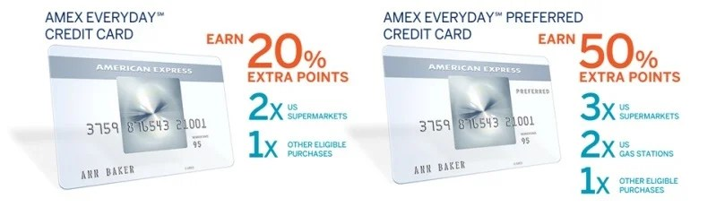 Amex Everyday cards banner