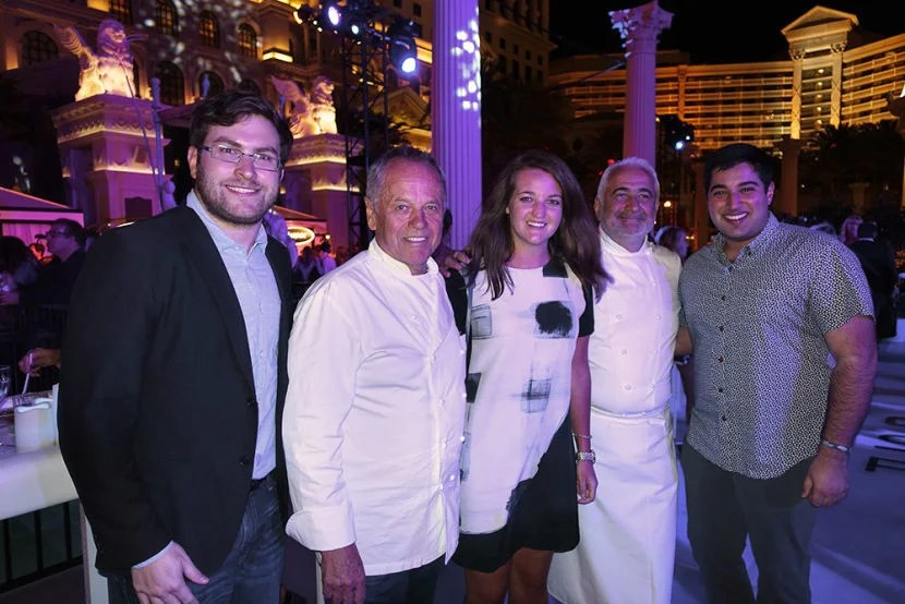 Team TPG with Wolfgang Puck and Guy Savoy.