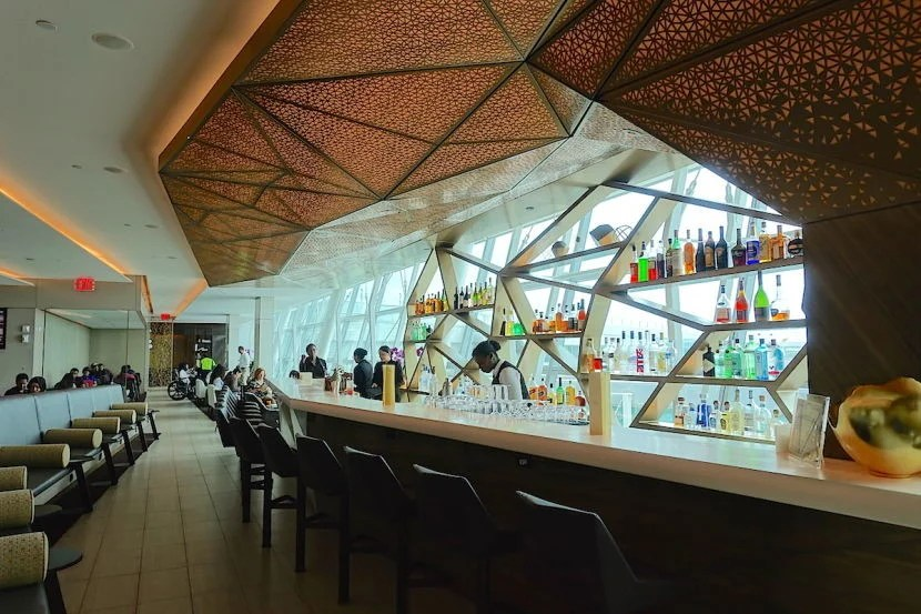 I spent about an hour in the Etihad Premium Lounge before my flight.