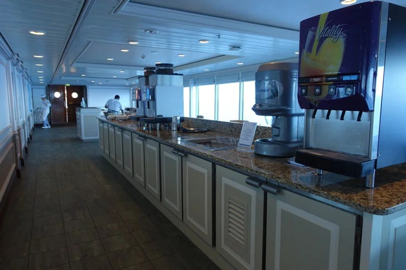 A drink station at the buffet.