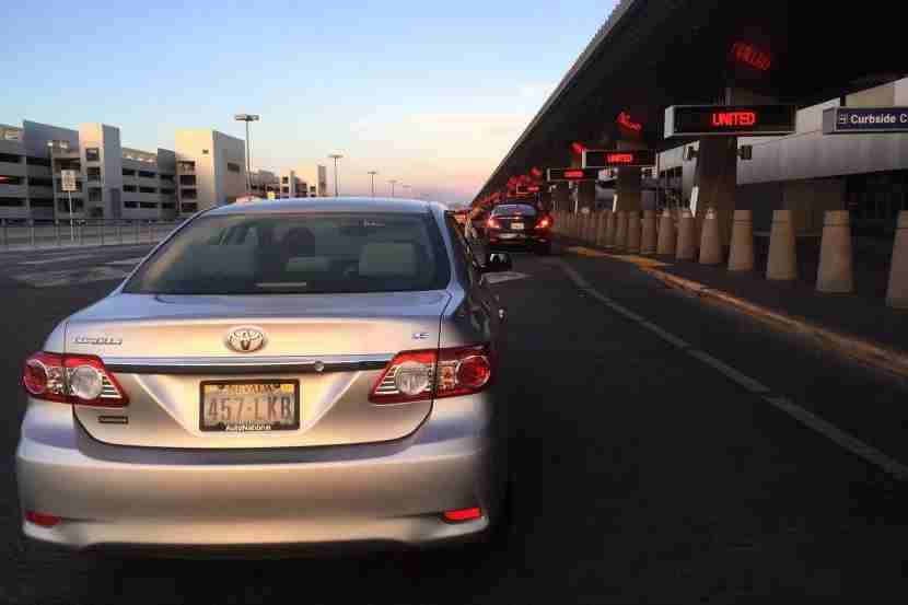 Our Uber driver droppedus off right at the curb at Terminal 3.