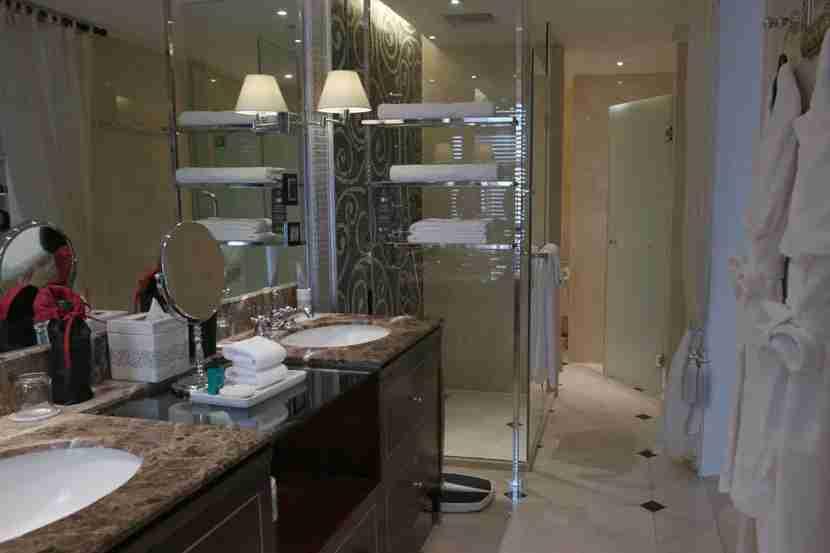 My bathroom at the Hotel Metropole Hanoi.