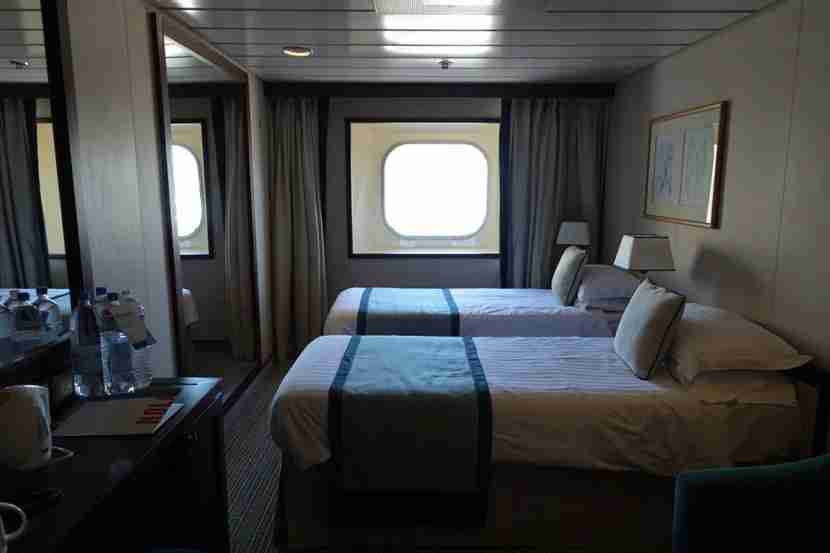 My ocean view room on the Adonia.