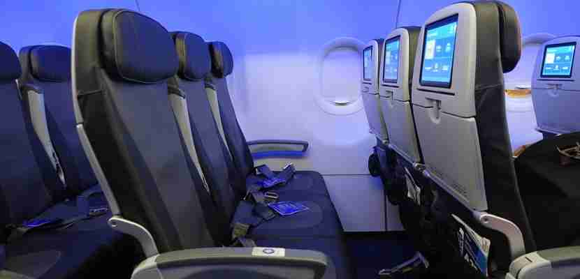"""My regular economy seat featured 33"""" of pitch."""