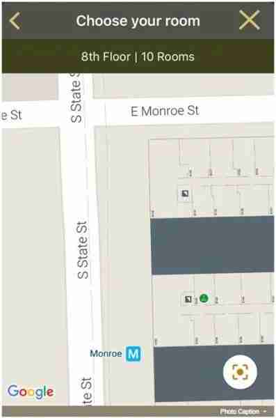 Hilton app and Google Maps
