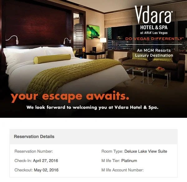 Hotel Review Vdara Las Vegas Studio Fountain View Suite