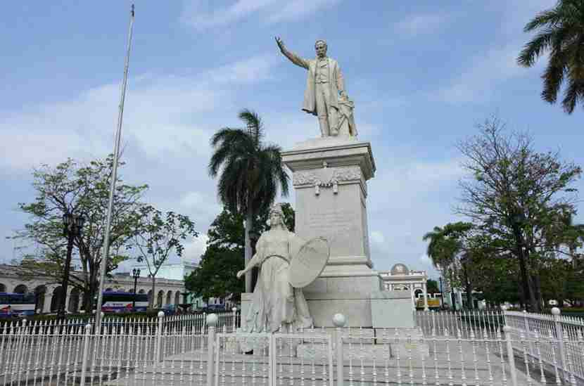 A statue of Jose Marti, one of Cuba's national heroes.