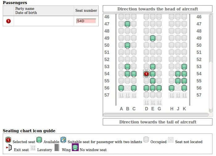 I took one of the last middle-section aisle seats when I checked-in online.