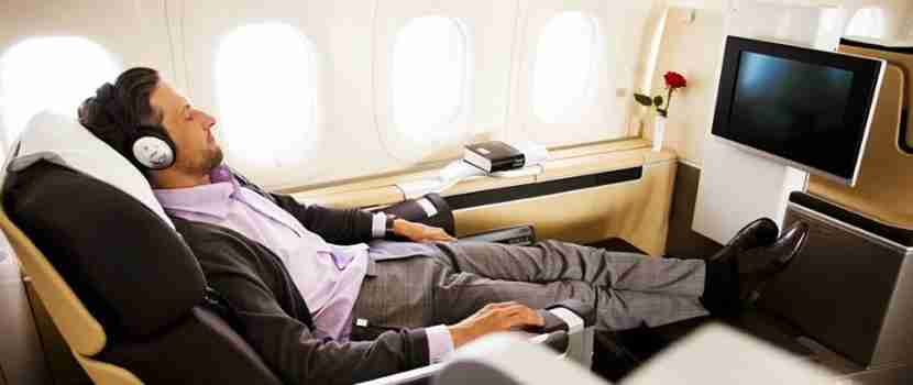 You could buy miles toward a luxurious redemption like Lufthansa first class.