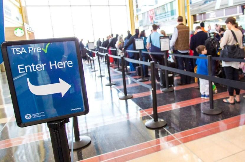 Get TSA PreCheck for expedited security.