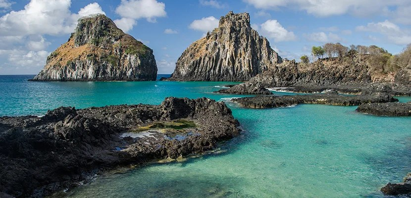 You can use United miles to fly to Fernando de Noronha off the southern coast of Brazil. Image courtesy of Shutterstock.