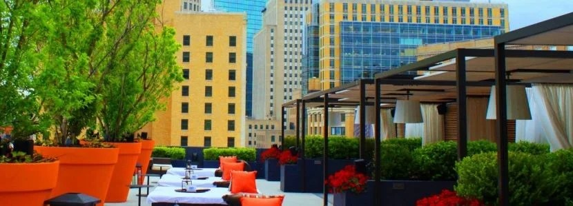 The Cabanas at the Rooftop@Revere are pretty gorgeous. Photo courtesy of hotel.