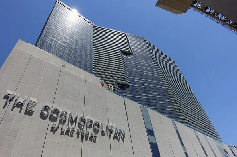 The Cosmopolitan of Las Vegas from outside.