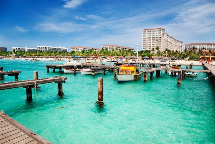 Fly to Aruba for 25,000 Flying Blue miles round trip from the US on Delta. Image courtesy of Shutterstock.