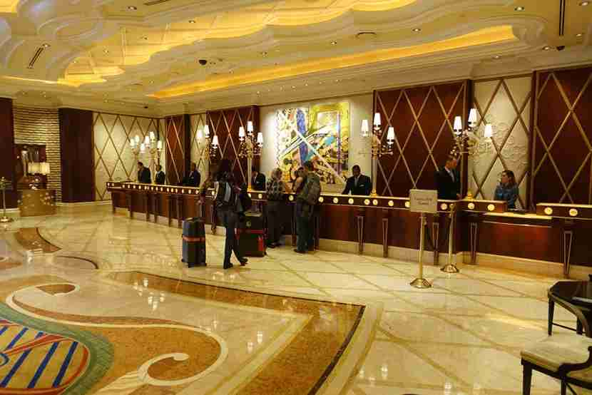 There were hardly any people waiting to check in when I arrived at the Wynn Las Vegas.