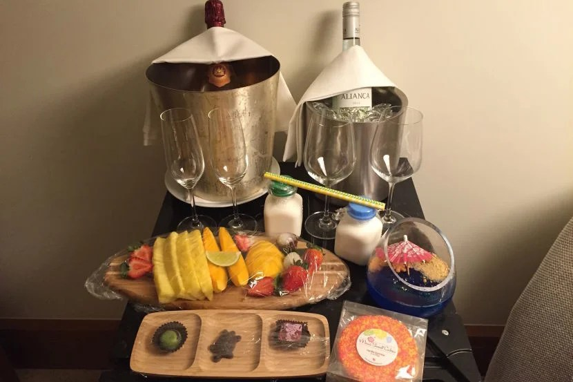 Talk about a welcome amenity!