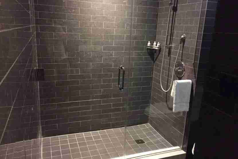 The shower was quite large.