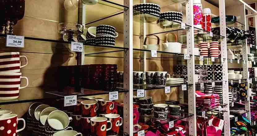 Shopping at Marimekko. Photo by Ari-Pekka Darth