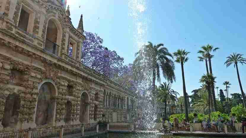 The gardens at the Alcazar Palace in Seville, a mix of many cultures.