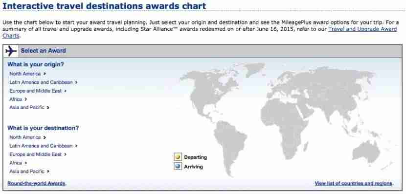 United has an interactive award chart that you can check for particular routes.