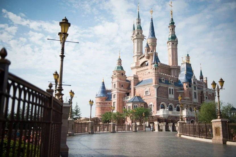 The Enchanted Storybook Castle at Shanghai Disneyland.