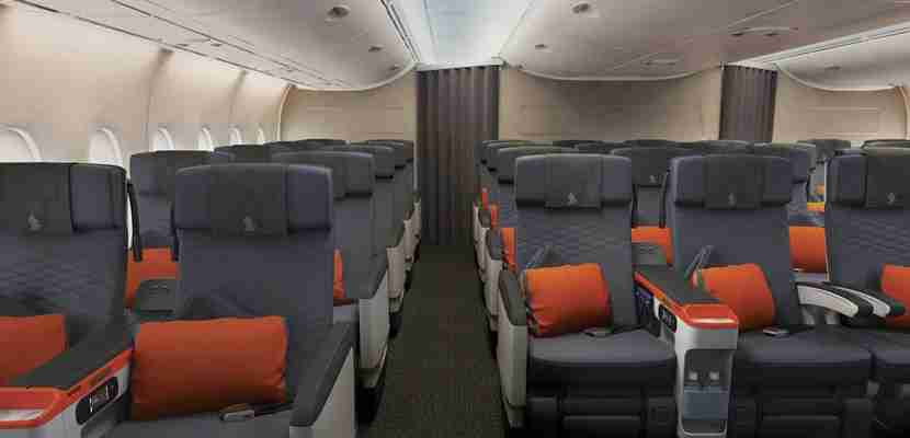Premium Economy seats on Singapore Airlines.
