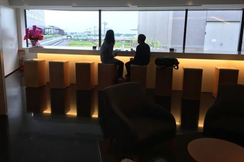 The Cathay Pacific Lounge.