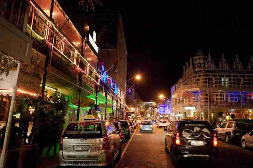 Bar hop on a budget along Long Street. Image courtesy of Cape Town Tourism.