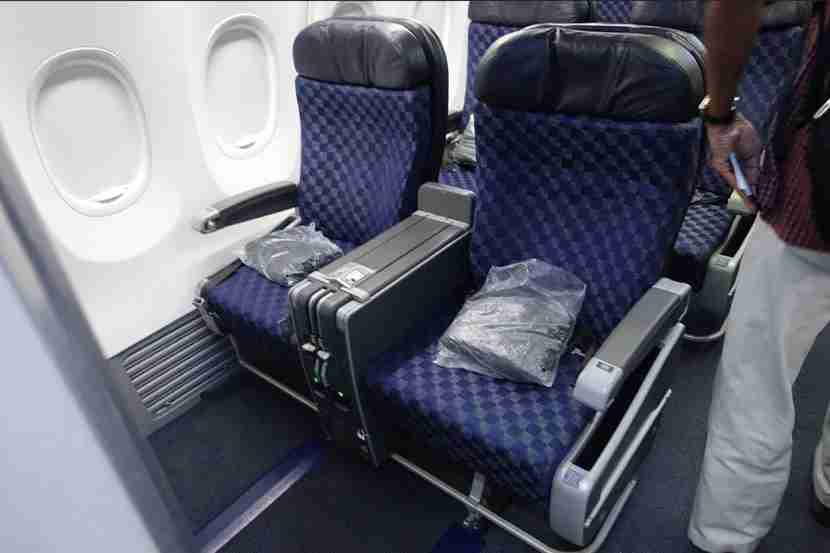 The bulkhead seats offers spacious leg room, especially when the seat doesn