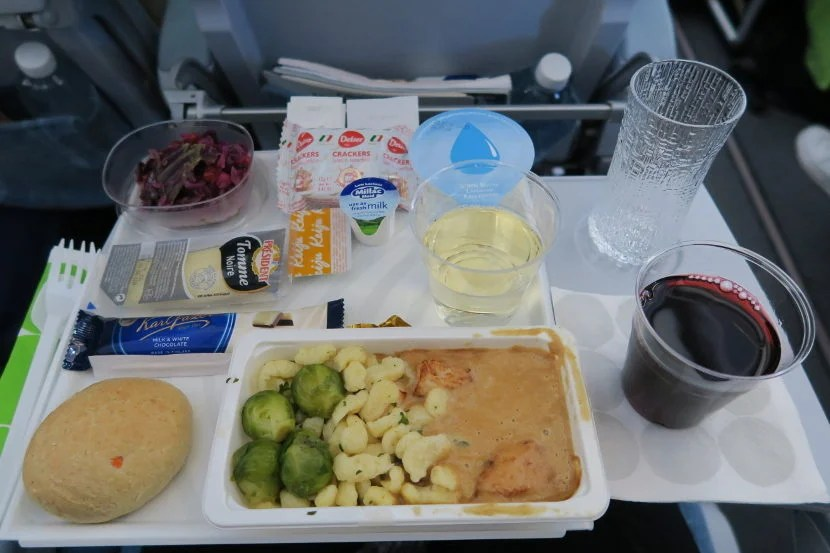 The departure meal was tasty and surprisingly filling.