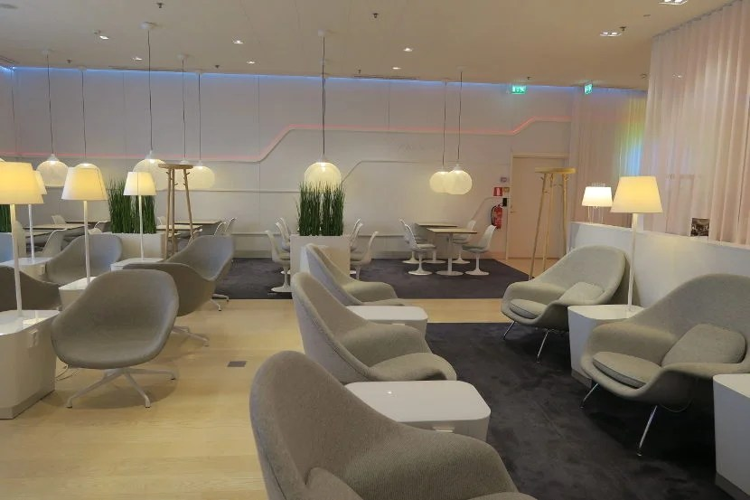 There was plenty of seating on the 'Premier' side of the Finnair lounge.
