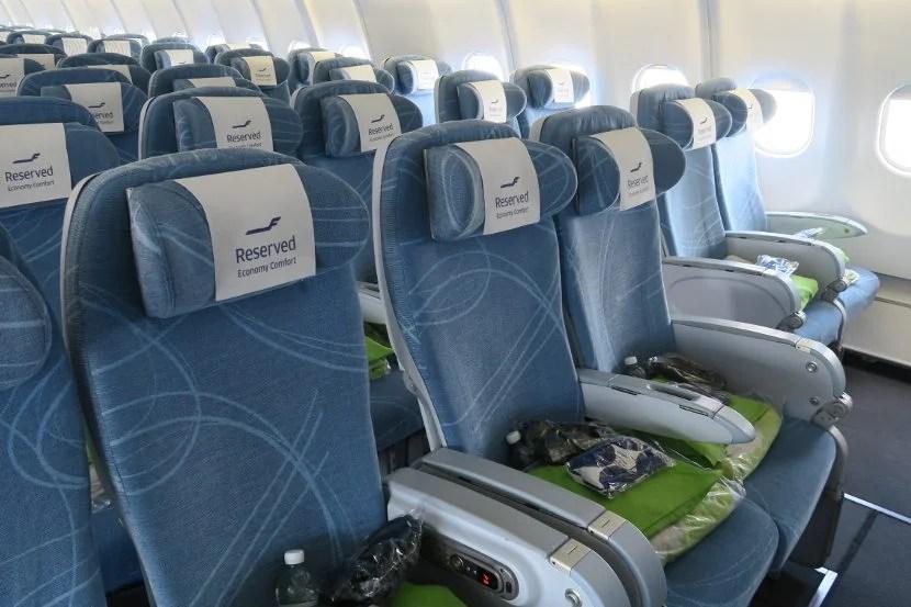 The Economy Comfort bulkhead seats had plenty of legroom.